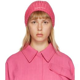 Jacquemus Pink Le Bonnet Beanie 206AC07-206 514400