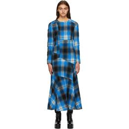 Dries Van Noten Blue Check Dress 1038 Danony