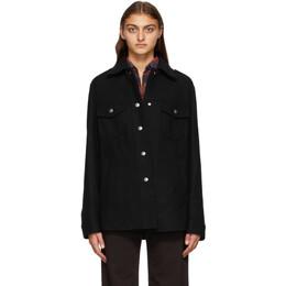 Dries Van Noten Black Wool Shirt Jacket 1315 Valery