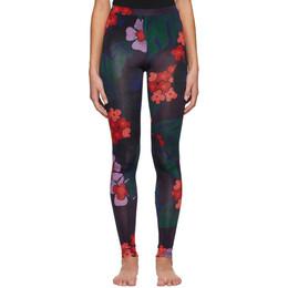 Dries Van Noten Purple and Red Floral Leggings 1615 Have PR