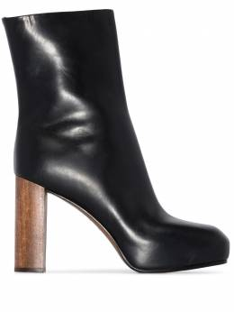 Neous Black Sarin 80 leather platform boots 00228A01SARINLEATHER