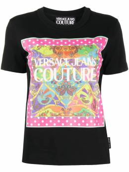 Versace Jeans Couture graphic-print crew neck T-Shirt EB2HZA7KCE30327