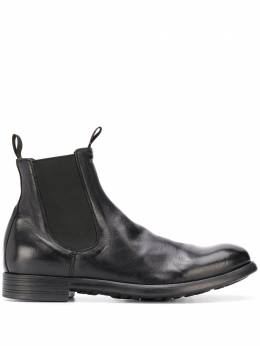 Officine Creative chunky slip-on leather boots CRHONICLE002