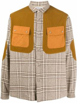 White Mountaineering checked contrast shirt AW20WM2073107