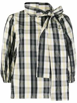 Red Valentino puffy sleeves checked blouse UR0AAA905DH
