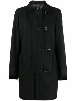 Fay tailored toggle-fastening coat NAW54413400SGLB999