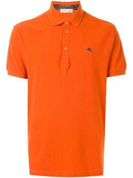 Etro рубашка поло с вышитым логотипом 1Y1429770