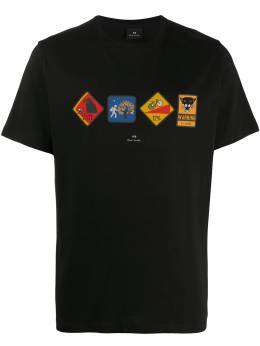 Ps by Paul Smith road sign-print T-shirt M2R011REP2386