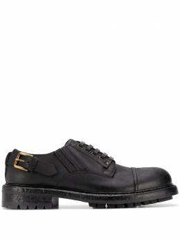 Dolce&Gabbana leather buckle Derby shoes A10656AW374