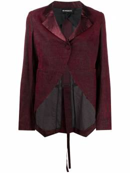 Ann Demeulemeester satin trim tailored jacket 20021010P172