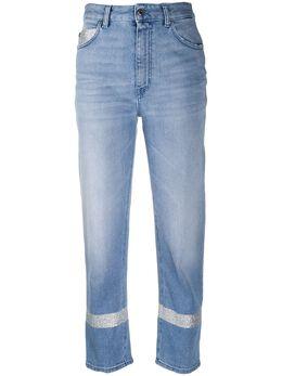 Just Cavalli укороченные джинсы с завышенной талией и вышивкой S04LA0186N31857