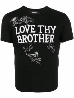 Dsquared2 Love Thy Brother printed T-shirt S71GD0971S22427
