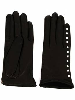 Emporio Armani faux leather gloves with stud detail 6341760A202