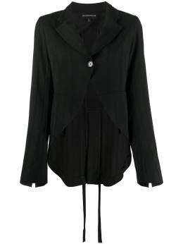 Ann Demeulemeester ribbed single breasted blazer 20021010P178