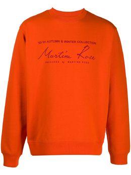 Martine Rose толстовка с графичным принтом и круглым вырезом MRAW20601A