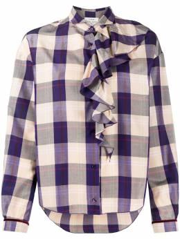 Forte_Forte клетчатая блузка с оборками 7769MYSHIRT