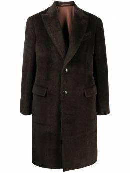 Lardini фактурное однобортное пальто миди IM93606W15IMI55663