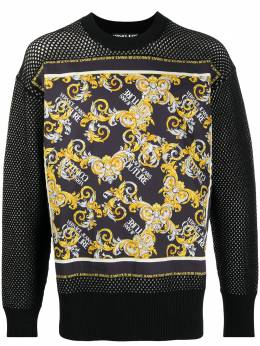 Versace Jeans Couture Barocco-print mesh sweatshirt EB5GZA8A4E50458