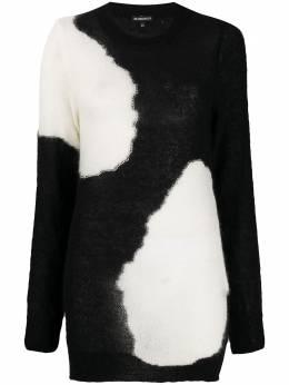 Ann Demeulemeester monchrome long-sleeve jumper 20024006P25