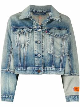 Heron Preston джинсовая куртка свободного кроя из коллаборации с Levi's HWYE005R209250017301