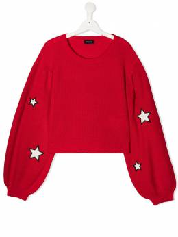 Monnalisa long sleeve star patch jumper 4966006037
