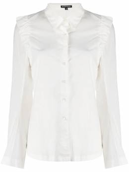 Ann Demeulemeester ruffled shoulder cotton shirt 20022024120