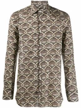 Gabriele Pasini рубашка с длинными рукавами и геометричным принтом G16ITALGP16226