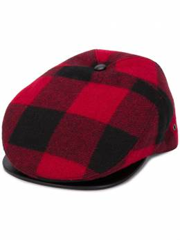 Dsquared2 logo embroidered checked flat cap HAM002901WC0025
