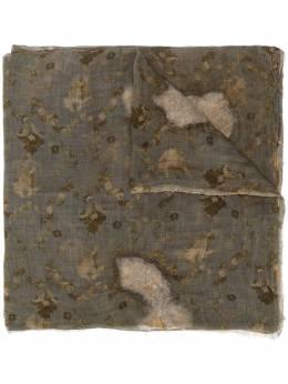 Uma Wang distressed floral print scarf UA0247