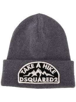 Dsquared2 шапка бини с вышитым логотипом KNM000101W03533