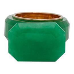 Bottega Veneta Green Jade Ring 592094 VAVB2