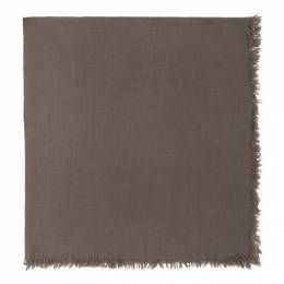 Rick Owens Taupe Square Anona Scarf RP20F2463