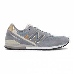 New Balance Grey and Gold 996 Sneakers CM996BF