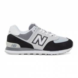 New Balance Black and White 574 Sneakers ML574NLC