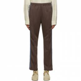 Needles Brown Smooth Track Pants HM227