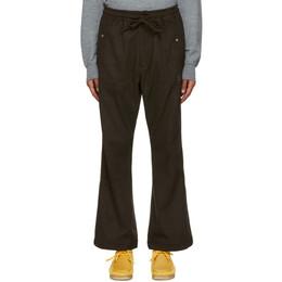 Needles Brown Faux-Suede Cowboy Trousers HM132