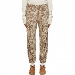 Needles Beige and Brown Faux-Fur Trousers HM286