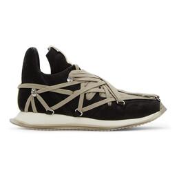 Rick Owens Black Suede Maximal Runner Sneakers RU20F3813 LSD