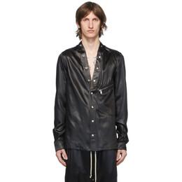 Rick Owens Black Larry Shirt Jacket RU20F3287 QLX