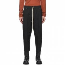 Rick Owens Black Cropped Bela Trousers RU20F3363 TT