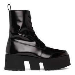Enfants Riches Deprimes Black Leather Les Stompeurs Boots 090-075