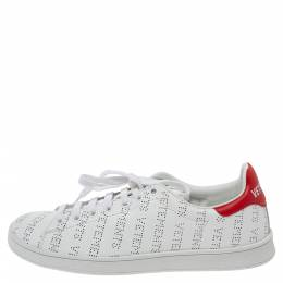 Vetements White Perforated Leather Low Top Sneakers Size 39 328357