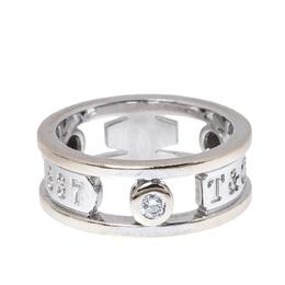 Tiffany & Co.Tiffany 1837 Diamond 18K White Gold Ring Size 48 327957