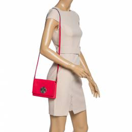 Kate Spade Magenta Leather Astor Court Flap Crossbody Bag 327979