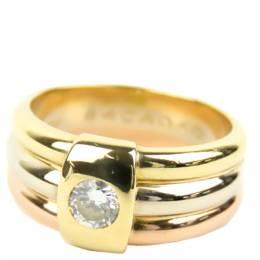 Cartier Trinity Vintage Diamond 18K Yellow Gold 18K White Gold 18K Rose Gold Ring Size 53 323342