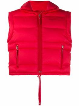 Acne Studios padded funnel neck gilet A90287