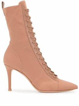 Gianvito Rossi pointed toe lace-up boots G7348785RICOKT