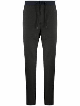 Incotex contrasting waistband tapered-leg trousers 1T046R4536Z