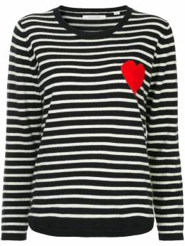 Chinti And Parker striped heart sweater KH103NCR