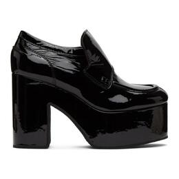 Dries Van Noten Black Patent Loafer Heels WW202/015/H60 QU106